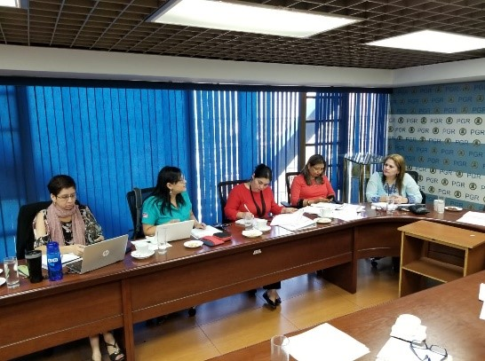 Lee más sobre el artículo ORMUSA realizó una reunión con la Procuraduría General de la República y la agencia de Cooperación Brucke Le Pont