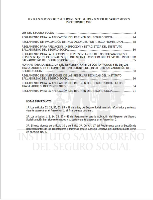 Lee más sobre el artículo Ley del seguro social y reglamentos del regimen general de salud y riesgos profesionales 1997