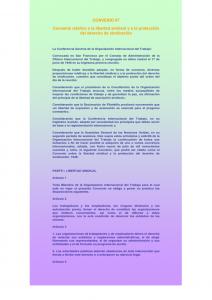 Lee más sobre el artículo Convenios 87 y 98 de la OIT