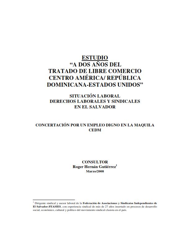 """Lee más sobre el artículo Estudio """"a dos años del tratado de libre comercio centro américa/ república dominicana-estados unidos"""""""