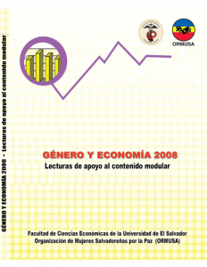 Lecturas de apoyo al contenido modular, diplomado género y economía 2008