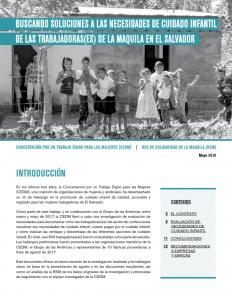 CEDM-RSM El Salvador Informe Cuidado Infantil