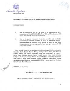 Decreto 593 ref ley servicio civil (renuncia voluntaria)