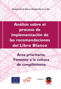 Análisis sobre el proceso de implementación de las recomendaciones del libro blanco: Fomento a la Cultura de cumplimiento
