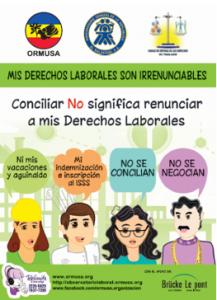 """""""ORMUSA continúa campaña sobre irrenunciabilidad de derechos laborales"""""""