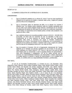 DECRETO N° 20 LA ASAMBLEA LEGISLATIVA DE LA REPÚBLICA DE EL SALVADOR