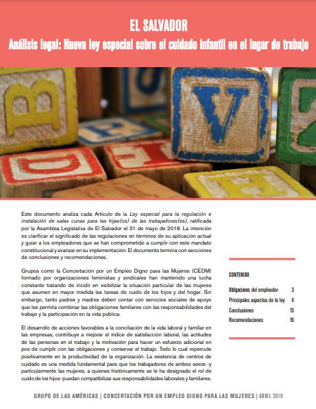 Lee más sobre el artículo Análisis legal: Nueva ley especial sobre el cuidado infantil en el lugar de trabajo